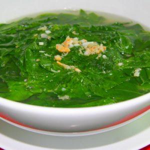 Canh rau cải nấu tôm khô